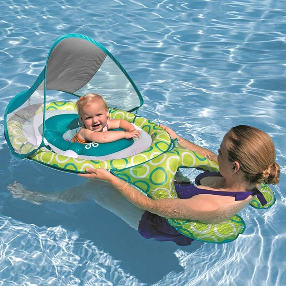 Mommy & Me Swimways Pool Float with Canopy